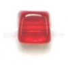 Glass Bead Cubes 5.5x5mm Siam Ruby - Strung